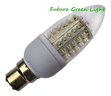 B22 60 LED CANDLE 240V 3W 220LM WARM WHITE BULB ~30W