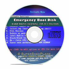 Boot, Restore, Format Disk CD, All PC Computers, Emergency Erase Repair Recovery