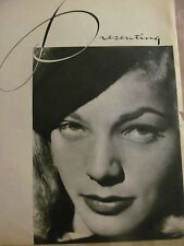 Lauren Bacall, Full Page Vintage Pinup