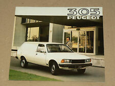 Prospectus  PEUGEOT 305 Break  1981 catalogue  brochure prospekt car catalogue
