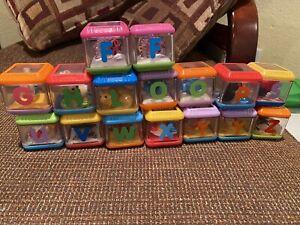 Fisher Price Peek A Boo Blocks Developmental Baby Toddler Stacking Toys Lot-16