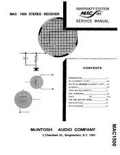 Service Manual-Anleitung für McIntosh MAC 1500