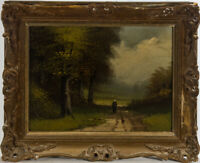 Early 20th Century Oil - A Lonely Walk