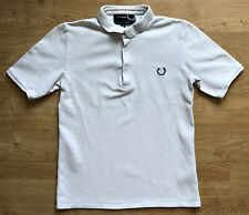 Fred Perry x Raf Simons White Black Short Sleeved Polo Shirt XS/S Cotton VGC