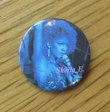 More details for sheila e old metal pin badge from the 1980's electro pop funk disco vintage