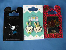 OSWALD Rivers Of Light TSUM TSUM Bunnies Disney Pin  LOT of 3 Pins  New on Card