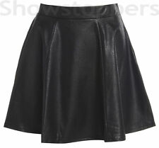 Faux Leather Party Women's Skirts