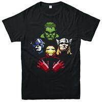 Avengers Rhapsody T-Shirt, Marvel Comics Characters Superheroes Gift Top