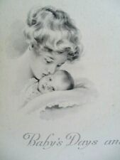 Vintage Victorian Era Baby Book Baby's Days and Baby's Ways Illustrated Unused