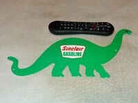"VINTAGE SINCLAIR GASOLINE W/ DIE-CUT DINO THE DINOSAUR 15"" METAL GAS & OIL SIGN!"