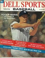 1962 APRIL Dell Sports Baseball magazine, Roger Maris, New York Yankees FAIR