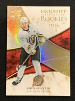 2019-20 UPPER DECK EXQUISITE NIKITA GUSEV GOLD ROOKIE R-NG #ed 24/75