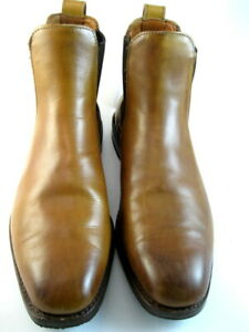 """Allen Edmonds """"LIVERPOOL"""" Leather Chelsea Boots 10 D Walnut Made In USA (611)"""