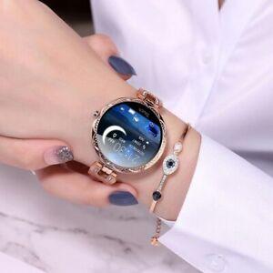 Fashion IP67 Waterproof Heart Rate Blood Pressure Women Smartwatch