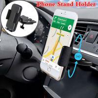 360° Rotating Car CD Slot Dash Phone Stand Holder GPS Nav Mount Bracket Black