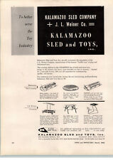 1962 PAPER AD Kalamazoo Sled Company Deluxe Snoliner Snow Champion Flying Disc