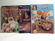 3 Fall Sewing and Craft Pattern Booklets