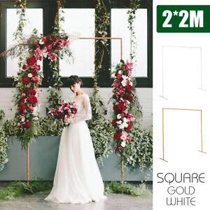 Wedding Stand Flower Rack Frame Arch 2X2M Door Iron Square Garden Party Prop