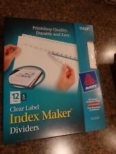 New listing Lot of 2 Avery 11429 Index Maker Label 12-Tab Dividers, White, 5 Sets/Pack