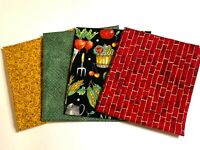 FAT QUARTER APPLES   5 FOR 4   STOF  MINIMIZED  FABRIC  PRICE NOW  ONLY 1.99