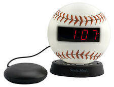 The Sonic Glow Baseball Alarm Clock Sonic Bomb Bed Shaker BW100BBSS