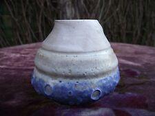Retro Studio Pottery Stoneware Volcanic Crater Lava Glaze Pot Vessel Posy Vase