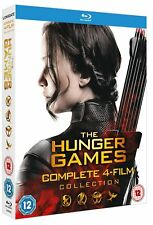 The Hunger Games Complete 4-Film Collection Blu-Ray Boxset (Brand New & Sealed)