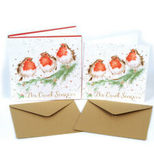 """Wrendale Designs Christmas Card Box Set of 8 Cards """"The Carol Singers"""""""
