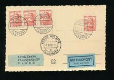 Flugpost-Karte 1938 aus Wien nach Essen (J24)