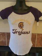 New With Tags! Women's Northwestern Trojans Top T-Shirt Size M Medium.