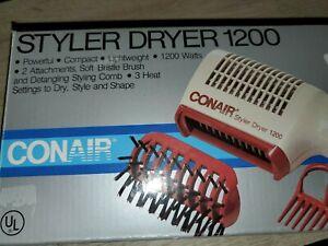 New Vintage Conair Styler Dryer 1200 (missing brush piece)