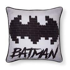 "The Lego Batman Movie Batman Gray & Black Throw Pillow (13""x10"")"