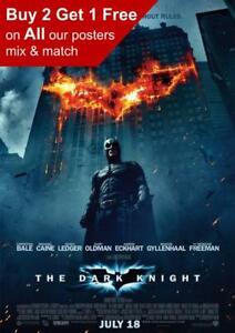 Batman The Dark Knight 2008 Movie Poster A5 A4 A3 A2 A1
