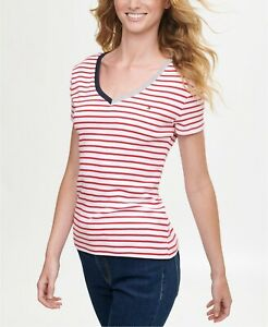 BNEW Tommy Hilfiger Cotton Striped T-Shirt, XSmall