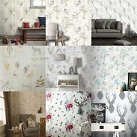Sycamore Forest Papier peint Arbres naturel floral beige taupe blanc cassé Vinyle Crown