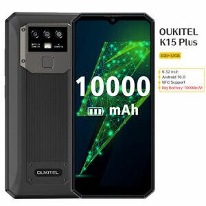 OUKITEL K15 Plus 10000mAh NFC Smartphone Android 10 Mobile Cell Phone Dual SIM