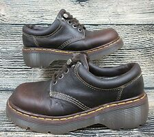 Doc Dr Martens Women's Oxford Loafers 9846 Brown Leather Lace Up 8/6 (US/UK)