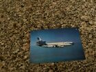 Air Siam Douglas DC-10 inflight Thai script side airline issued postcard