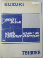 Suzuki TS100ER Mar 1984 #99011-48720-01D Motorcycle Owners Handbook Multilingual