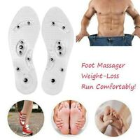 Magnetic Massage Insoles Flexible Acupuncture Massage Pads Foot Therapy new