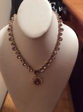 $175 Givenchy crystal & stone pendant statement necklace Z8