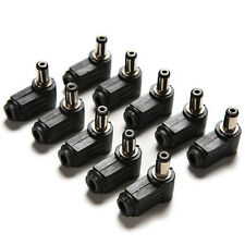 10pcs angle droit 2.1x5.5mm 2.1mm DC Power Male Plug à souder connecteur neuf Vo