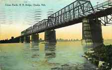 Postcard Union Pacific Railroad Bridge, Omaha, Nebraska - used in 1909