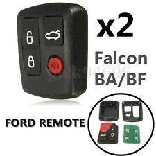 2x 4 Button Remote Key For Ford BA BF Falcon Sedan Wagon Keyless Central Locking