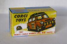 Repro Box Corgi Nr.339 Monte Carlo Winner BMC Mini Cooper S