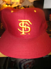 Original 90's Red FLORIDA STATE SEMINOLES Logo Snapback Hat New Era New W/Tag