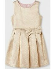 Girls' Jacquard A Line Dress - Cat & Jack Gold XL 14/16 NWT
