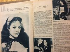Hedy Lamarr, Three Page Vintage Clipping