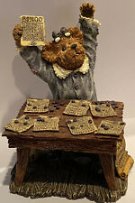 Boyds Bear & Friends Bearstone Collection Bessie Winsalot..Bingo 1st Edition