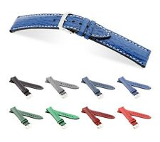 """RIOS1931 Genuine Shark Leather Watch Band """"Wave"""", 18-22 mm, 8 colors, new!"""